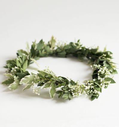 Coronita verde y blanca