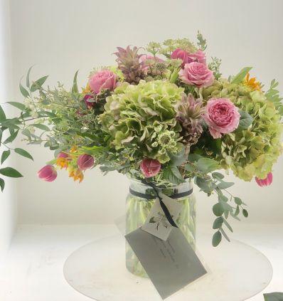 Cristal  con Flores en Rosas