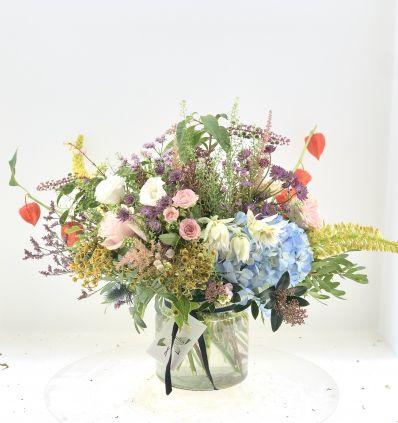 Cristal Pequeño con Flores