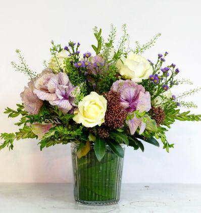 Jarrón Cristal con flores