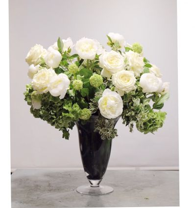 Jarrón Rosas Blancas