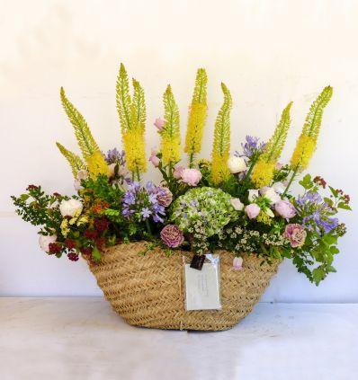 Capazo Grande con flores