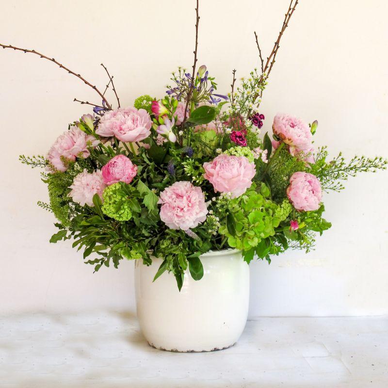 Cerámica Blanca con flores