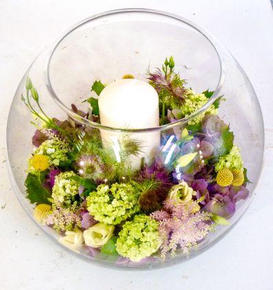 Cristal con Flores y Velon